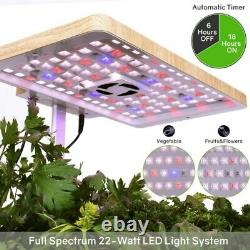 Moistenland Hydroponics Growing System Indoor Herb Garden with LED Grow Light