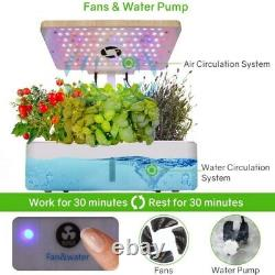 Moistenland Hydroponics Growing System Indoor Home Garden LED Grow Light DC110V