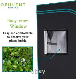 OPULENT SYSTEMS 48x48x80 Hydroponic Mylar Water-Resister Grow Tent Reflective