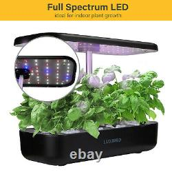 Seed Starter Hydroponics Grow System LED Growing Light Germination Vegetable Pot