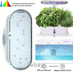 Smart Hydroponics Growing System 10Pods Indoor Herb Garden Kit with LED Grow Light