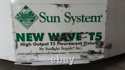 Sun System New Wave T5HO-44 Grow Lights 120V 48 4-Lamp Fixture (Lot of 19)