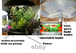 System Hydroponics Plant Bubbler indoor smart garden Grow Kit with lights