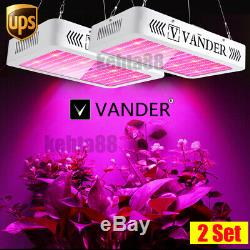 VANDER Hydro 2X 2000W 192 LED Grow Light Full Spectrum Plant Lamp System Kits