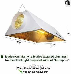 VIVOSUN Grow Tent Light Kit 4' x 4' with 400With600With1000W Ballast HPS MH Reflector