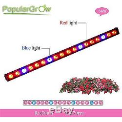 Waterproof 54W LED Grow Light Bar Red Blue Strip Hydro Indoor plants Growth lamp