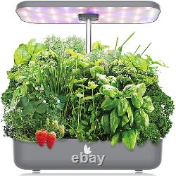 Wattne 12 Pods Hydroponics Growing System with LED Grow Light for Home Kitchen